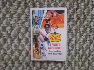1979 STROH'S BEER -- PITTSBURGH STEELERS POCKET SCHEDULE -- PITT / PENN STATE