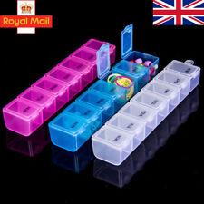 7 Day Pill Box Organizer Daily Weekly Tablet Reminder Travel Medicine Storage