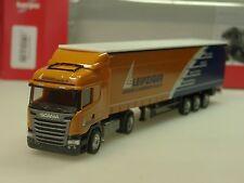 "Herpa Scania R Highline Gardinenplanen-Sz ""Leipziger Logistik"" - 307444 - 1/87"