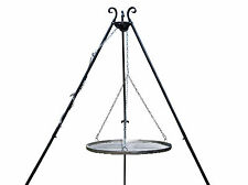 Grill HANDMADE FORGED  Hanging TRIPOD STAND STEEL CHARCOAL BBQ MEAT diameter 80