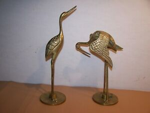2  Solid Brass Cranes
