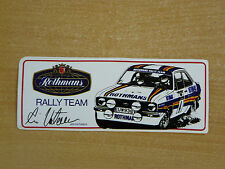 Rothmans Rally Team (Ari Vatanen) Motorsport Sticker Decal