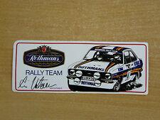 Rothmans Rally Team (Ari Vatanen) Motorsport Sticker Decal