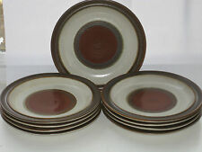 Mid-Century Denby China POTTERS WHEEL Rust Red ENGLAND 9 Salad Plates