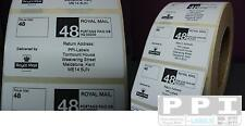 1000 ROYAL MAIL 48 PPI Labels & Return Address ON ROLL STD-48-R4 (70x40)