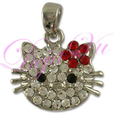 CRYSTAL SMALL RHODIUM RED HELLO KITTY PENDANT MADE WITH SWAROVSKI ELEMENTS