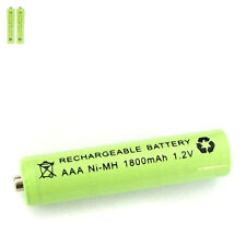 2 pcs AAA 3A 1800mAh 1.2V Ni-MH rechargeable battery Solar Light MP3 RC Green