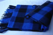 Topman Scarf Blue and Black Check Very Long and Wide Very Soft NEW Cost £18