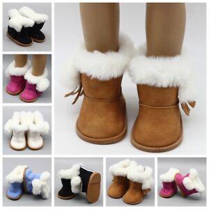 Zubehör für Puppen Spielzeug 18 Inch Doll Snow Boots Mini Schuhe Plüsch Schuhe