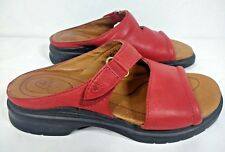 Ariat 94160 Womens Slip On Sandals Red Leather Size 6B