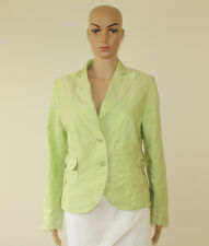 Light Green Creased Fabric SWING Button Fitted Casual Top Jacket Blazer 14 / 42