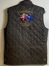 Rare Barbour Polo Cup Gilet Vest The Barbour Cup Men's Large Olive Green Quilted