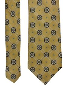 Jos A Bank Signature Collection Yellow Geometric Silk Tie Woven Classic