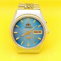 Vintage Japan Watch *ORIENT Crystal* Automatic 21jewels stainless steel 1990s.