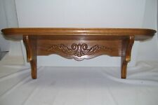"""Vintage Wood Wall Shelf Cedar Lovely  Carved Design 20"""" Long New Condition"""