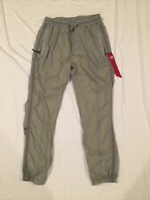 Alpha Industries Gray PT Mesh Lined Track Pants Men's Size M Made in USA