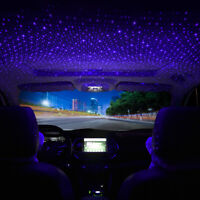 USB Car Interior Atmosphere Star Sky Lamp Ambient Star Light Night LED Projector