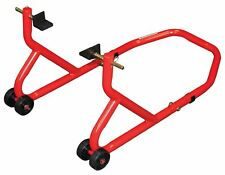 Biketek Motorcycle Bike Rear Paddock Stand Red With Swing Arm and Cup Adaptor