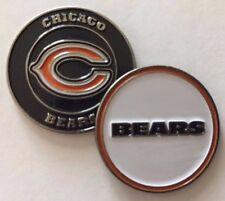 Premium 2 sided Chicago Bears Golf Ball Marker + Bonus