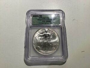 2000-(W) American Silver Eagle Official US Mint ICG MS68 A19.31