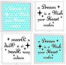 Vinyl Sticker Fits 20x20cm DIY Box Frame A DREAM IS A WISH YOUR HEART MAKES