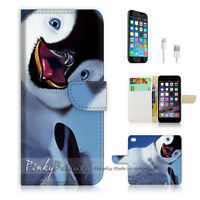 ( For iPhone 6 / 6S ) Wallet Case Cover! Cute Baby Penguin P0239