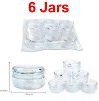 Beauticom 6 Pieces 15 Gram/15ML Lip Balm Lotion Cream Sample Jar Containers