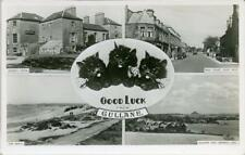 REAL PHOTOGRAPHIC MULTIVIEW POSTCARD OF GULLANE, EAST LOTHIAN, SCOTLAND BY M & L