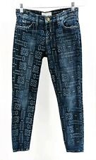 Current/Elliott Women's The Stiletto Bandana Print Jeans Dark Wash Size 26