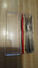Lot of 18 Awesome Crochet Sewing Hook Needles in Plastic Case