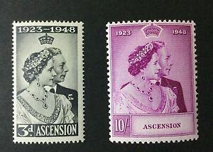Ascension Island: 1948 Royal Silver Wedding, Mint lightly Hinged