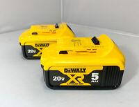 Dewalt 20V DCB205 2 Pack 5.0 Batteries 20 Volt Brand New Genuine