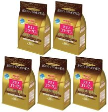 5 pack Meiji Amino Collagen Premium 214g Refill JAPAN 012