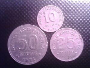 INDONESIA  10   25  50    RUPIAN       1971      AUG18