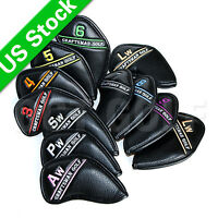 USA Ship 12pcs Golf Iron Club Head covers For Taylormade Mizuno Cobra Callaway