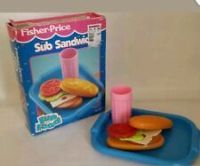 Vintage Fisher Price Fun with Play Food 4 Little Tikes Sub Sandwich with Box HTF