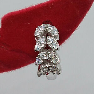 0.12 ct Round Cut Diamond fashion Nose Pin 14K White Gold Over Summer Sale