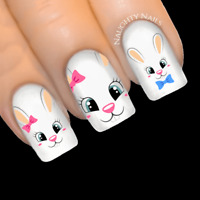 SWEET BUNNY Easter Nail Water Transfer Decal Sticker Art Slider