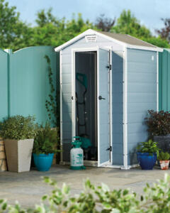3x4 ft Plastic Storage Shed Keter Manor