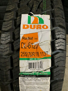 1 New 255 70 18 Duro Frontier A/T Tire