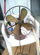 "Working Variable Speed Antique GE 4 Blade Fan 18"" Cage - No Damage."