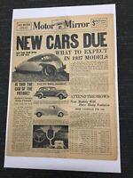 November 2, 1936 Motor Mirror Newspaper - Vol. 1, No. 1 - Automobiles