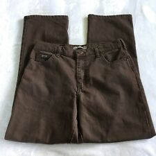 Lee women's relaxed straight leg brown High Waisted denim jeans -size 10 short