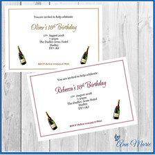 10 x PERSONALISED BIRTHDAY INVITATIONS PARTY INVITES 18th 21st 25th 30th ......