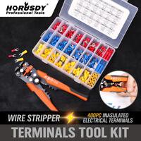 8'' Self-Adjusting Wire stripper & Solderless Crimp Wire Terminal Connector Ends