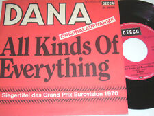 """7"""" - Dana All Kinds of everything & Channel Breeze - MINT Grand Prix 1970 # 4530"""