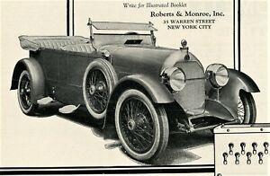 1921 RARE Ad w/ RICHELIEU (1922-1923) Car.Nice PHOTO. Duesenberg. Asbury Park NJ