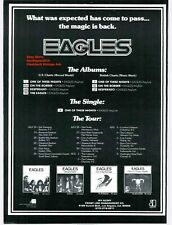 """Classic The Eagles """"One Of These Nights"""" Album Collection & Tour Promo Ad Print"""
