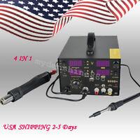 USA 852D 4 In1 Hot Air Gun Unit Soldering Rework Station Solder Welding Machine