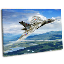 More details for raf avro vulcan bomber canvas print framed digital painting wall art picture .3